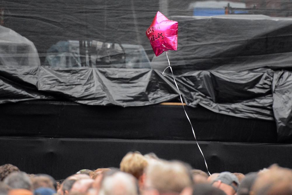 Wünsche werden kreativ angebracht, aber dieser auf einem Ballon wurde nicht erfüllt.