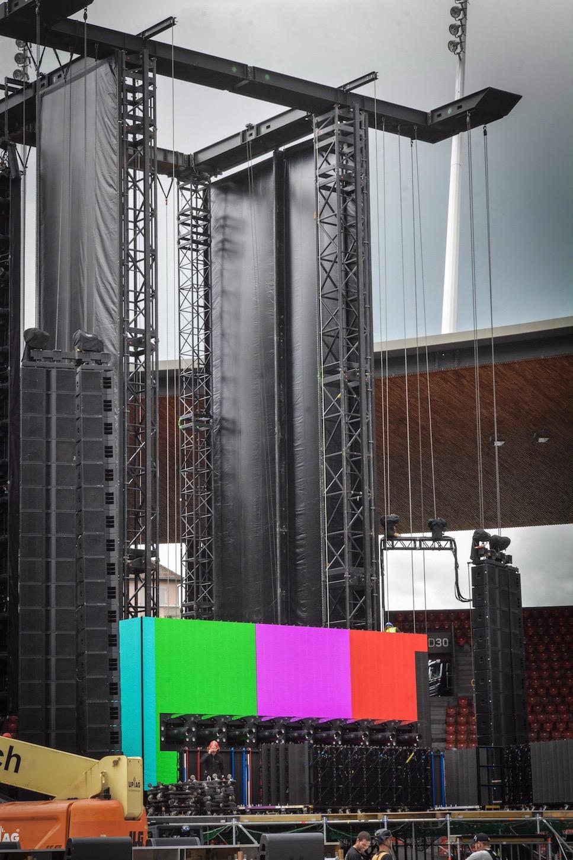 Der Screen scheint zu funktionieren. Für Production Direktor Dale Skjerseth also alles im grünen Bereich.