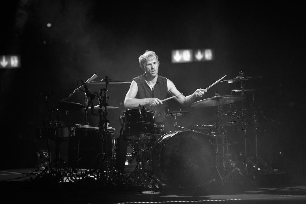 Das Schlagzeug gibt den Takt an.