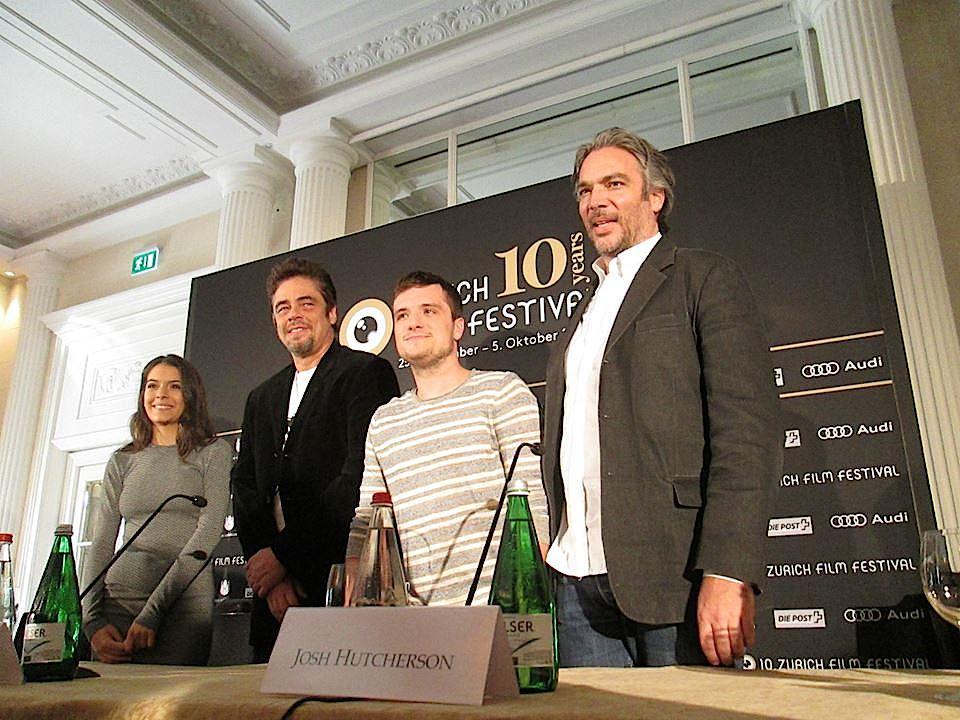... zusammen mit dem Regisseur Andrea Di Stefano nach Zürich gekommen.