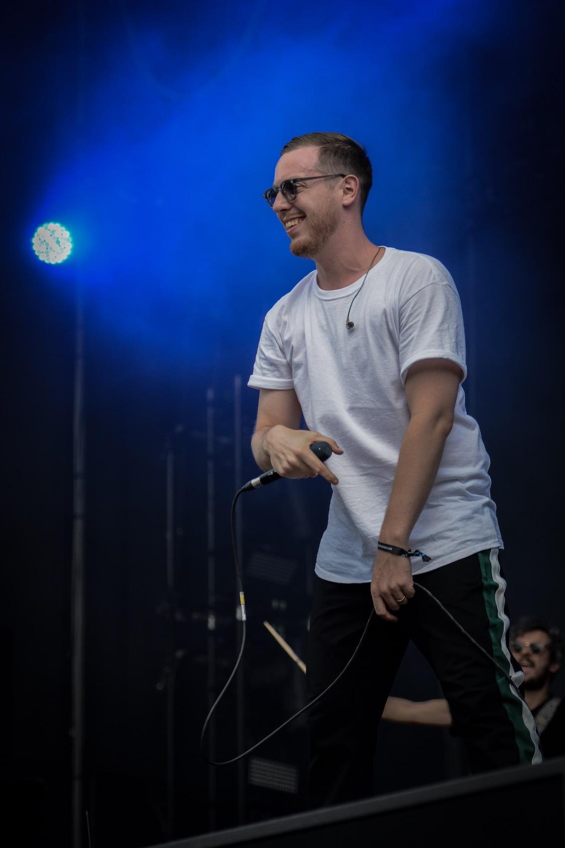 Das Lachen auf dem Gesicht verrät, dass er auch Spass auf der Bühne hatte.