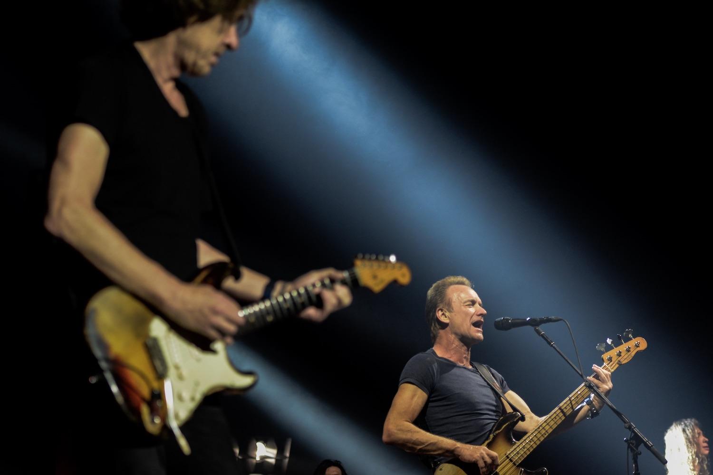 Sting hatte eine versierte Begleitband.