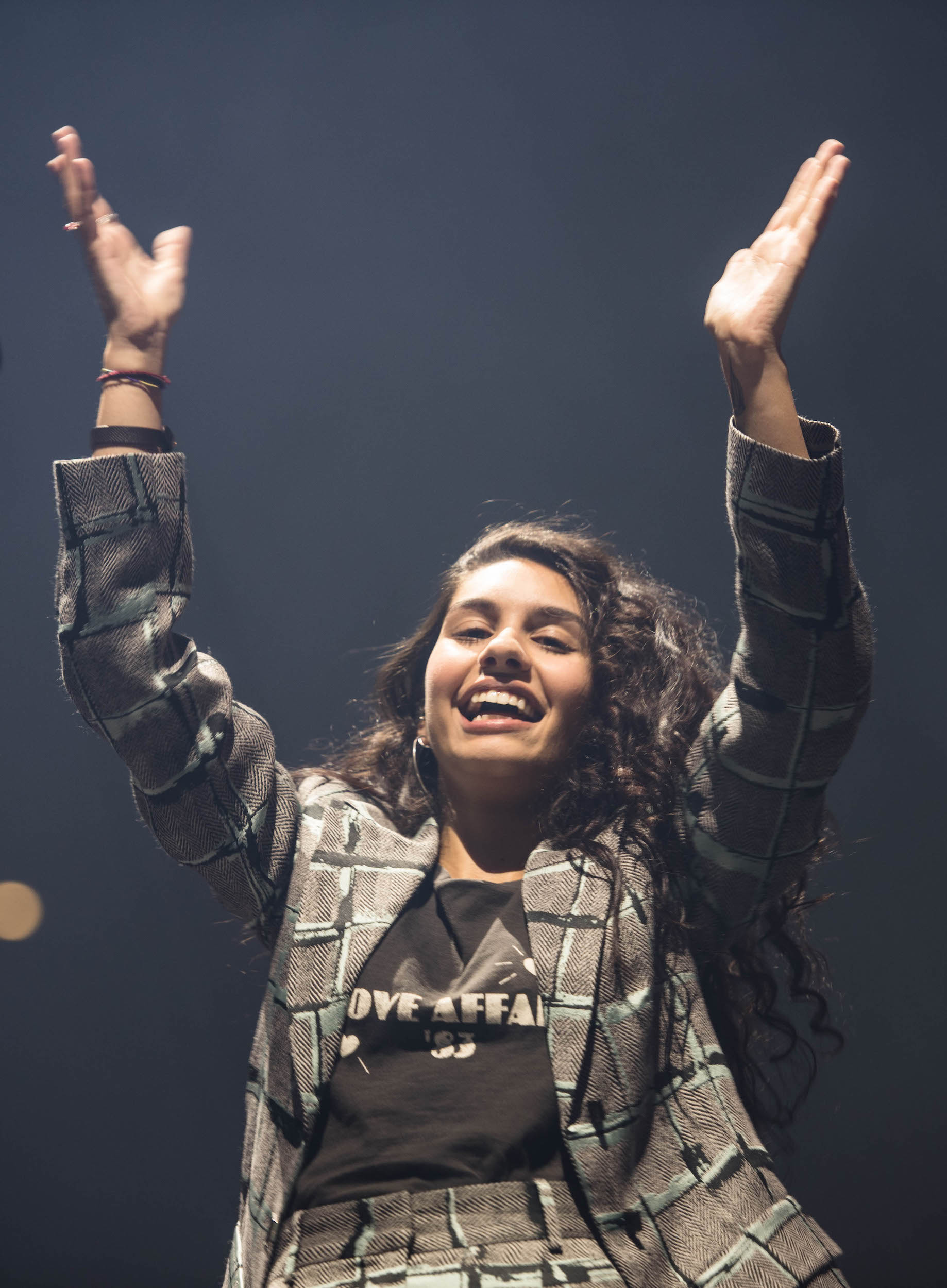 Alessia hatte viel Spass auf der Bühne.
