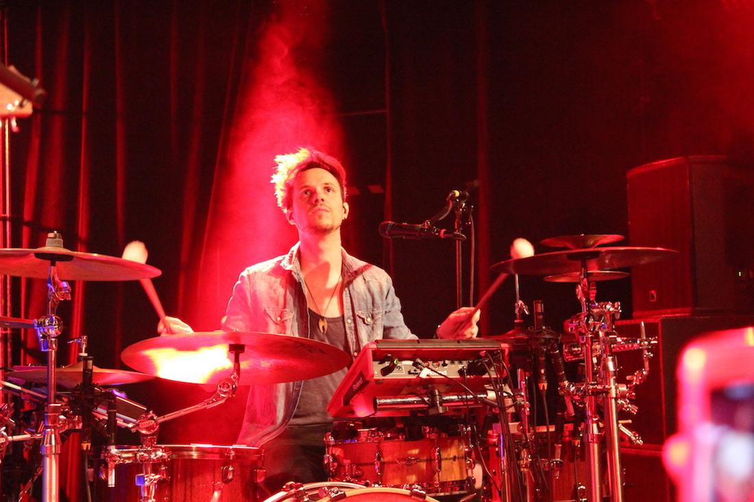 Marcel im Rotlicht.
